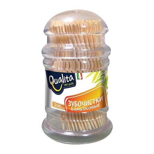 Qualita Зубочистки бамбуковые 300 штПолоскание и уход за полостью рта<br>