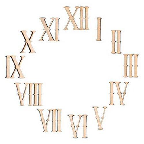 Mr. Carving Заготовка для декорирования Цифры римские ВД-065 (12 шт.) бежевый
