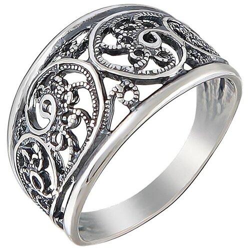 Эстет Кольцо из чернёного серебра Л9К051132Ч, размер 18