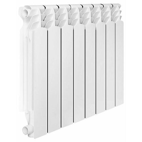 Радиатор секционный алюминий Oasis Al 500/96 x10 подключение боковое правое RAL 9016 биметаллический радиатор rifar рифар b 500 нп 10 сек лев кол во секций 10 мощность вт 2040 подключение левое