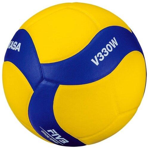 Фото - Волейбольный мяч Mikasa V330W желто-синий волейбольный мяч mikasa vt500w желто синий