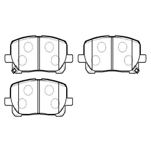 Фото - Дисковые тормозные колодки передние HONG SUNG BRAKE HP5097 для Toyota Corolla (4 шт.) дисковые тормозные колодки передние ferodo fdb4046 для toyota aurion toyota corolla 4 шт