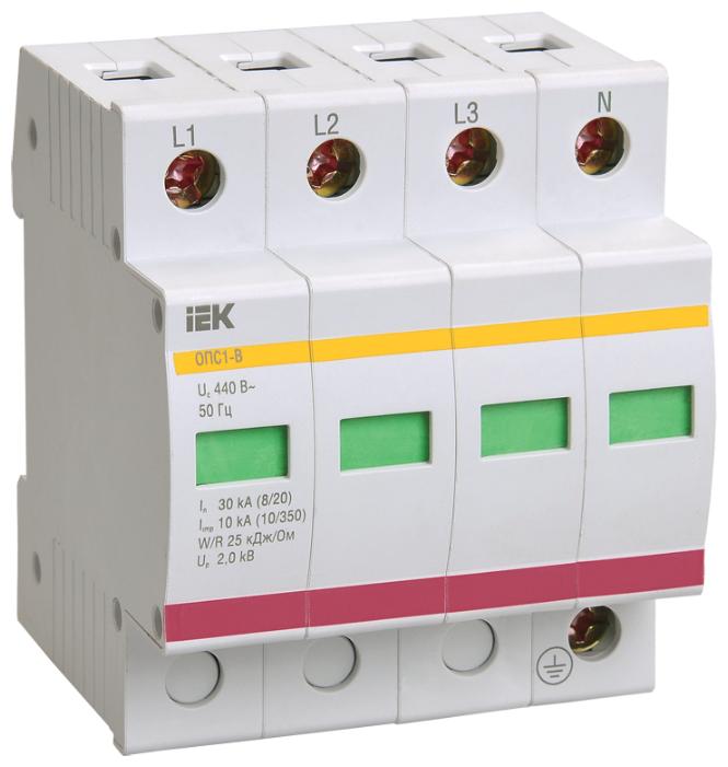 Защита от перенапряжения IEK MOP20-4-D