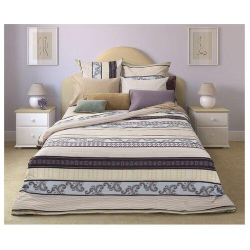 Постельное белье 1.5-спальное Sova & Javoronok Спокойный сон 50х70 см, сатин бежевый/голубой