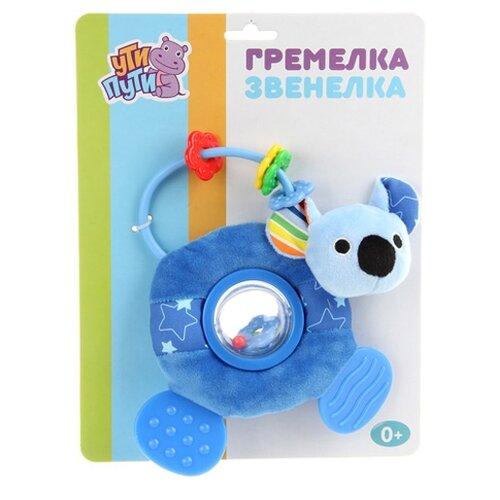 Купить Прорезыватель-погремушка Ути-Пути Коала 84197 голубой, Погремушки и прорезыватели