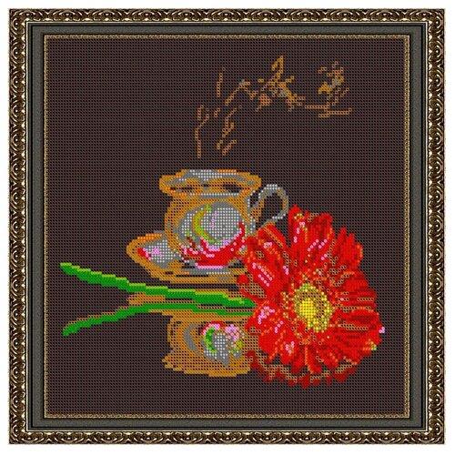 Светлица набор для вышивания бисером Кофе для неё 27 х 27 см, бисер Чехия (559П)