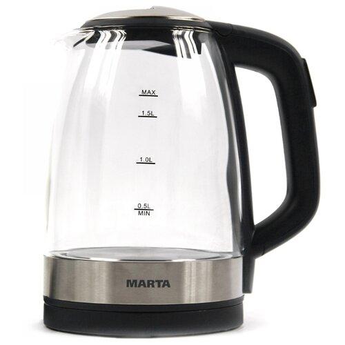 Чайник MARTA MT-1087, чёрный жемчуг электрический чайник marta mt 1083 dark topaz