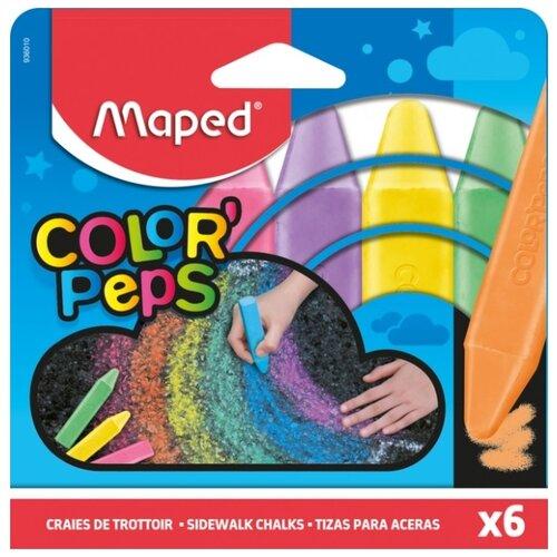 Купить Мелки для рисования Color'Peps , 6 цветов, Maped, Пастель и мелки