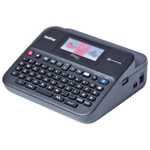 Термальный принтер этикеток Brother PT-D600VP черный/серый