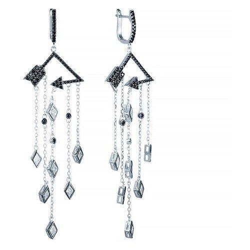 JV Серебряные серьги с фианитом E26900-W2-SR-001-WG