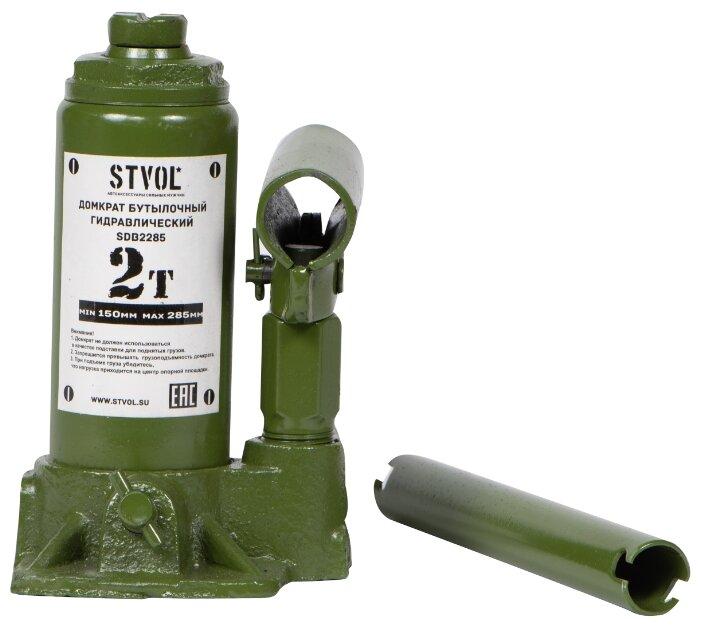 Домкрат бутылочный гидравлический STVOL SDB2285 (2 т)