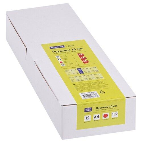 Фото - Пружина OfficeSpace пластиковые 10 мм красный 100 шт. пружина officespace пластиковые 6 мм черный 100 шт