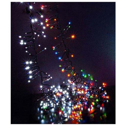КЛАСТЕР ЛАЙТ (cluster lights) МЛЕЧНЫЙ ПУТЬ, 192 холодных белых mini-LED ламп, 1,6+0,8 м, коннектор, черный провод, BEAUT