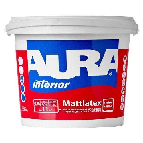 Краска акриловая Aura Interior Mattlatex моющаяся матовая белый 0.9 л