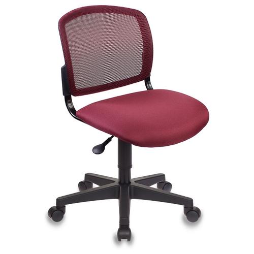 Фото - Компьютерное кресло Бюрократ CH-296NX офисное, обивка: текстиль, цвет: бордовый 15-11 кресло бюрократ ch 296nx на колесиках сетка ткань бордовый [ch 296 dc 15 11]