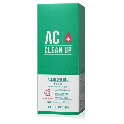 Etude House AC Clean Up All In One Gel Универсальный гель для проблемной кожи лица, 100 мл etude house make up