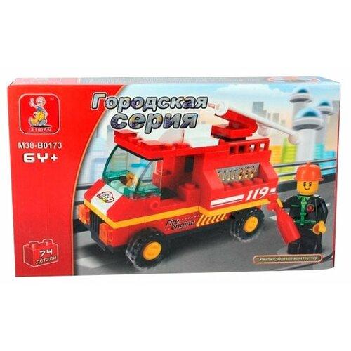 Конструктор SLUBAN Городская серия M38-B0173 FIRE ENGINE конструктор sluban армейский грузовик m38 b0301 230 элементов