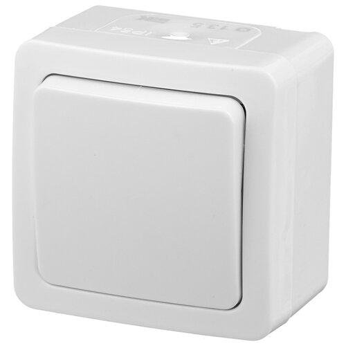 Выключатель 1-полюсный IEK ГЕРМЕС PLUS EVMP12-K01-10-54-EC,10А, белый iek mva20 1 010 b авт выкл ва47 29 1р 10а 4 5ка х ка в иэк