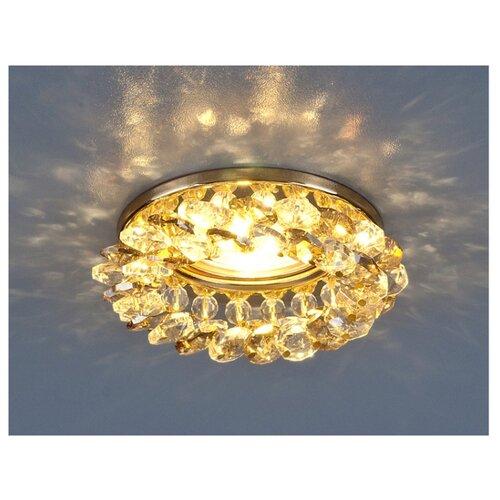 Встраиваемый светильник Elektrostandard 206 MR16 GD/GC электростандарт светильник точечный 206 mr16 gd cl золото прозрачный