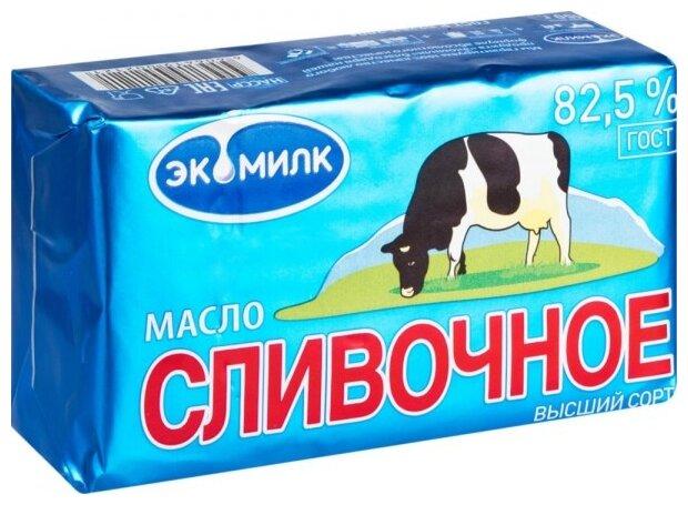 Экомилк Масло сливочное 82.5%, 450 г