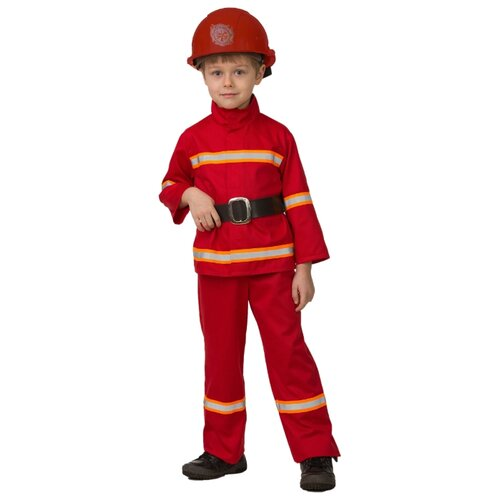Купить Костюм Батик Пожарный (5705), красный, размер 128, Карнавальные костюмы