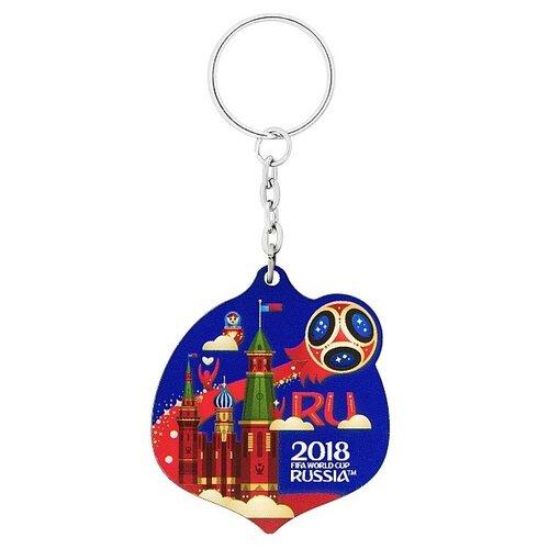 автомобильная наклейка fifa 2018 world cup russia 22 4 х 23 см Брелок 2018 FIFA World Cup Russia Летящий мяч (СН538), синий/красный