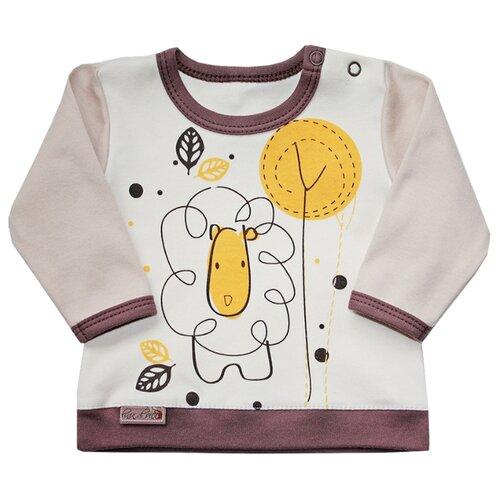 Купить Лонгслив Linea di Sette размер 86, какао/молочный, Футболки и рубашки
