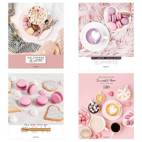 Купить ArtSpace Упаковка тетрадей Стиль. Coffee for dreams Т48к_29743, 10 шт./4 дизайна, клетка, 48 л., Тетради