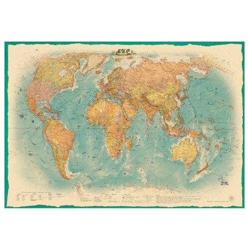 Атлас Принт Карта Мира политическая в стиле ретро (4607051071063), 157 × 107 см