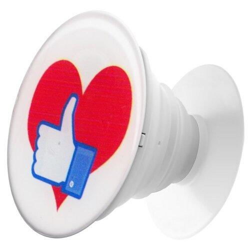 Krutoff / Пластмассовый держатель Krutoff для телефона Попсокет (popscoket) Сердце (вид 3) держатель krutoff xpo17 17096