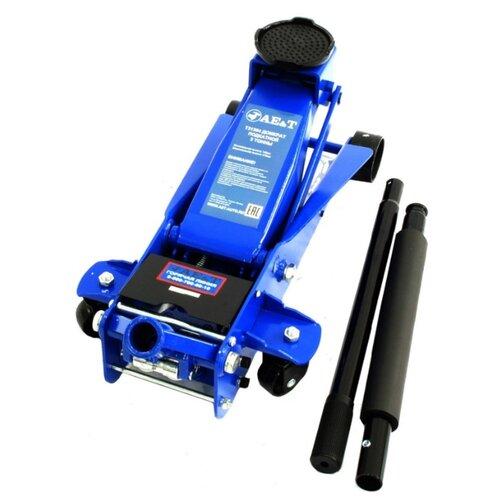 Домкрат подкатной гидравлический AE&T T31304 (3 т) синий