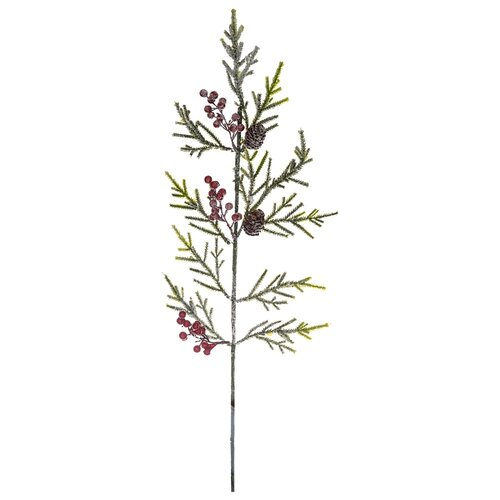 Изделие декоративное заснеженная еловая ветвь 78 см Lefard (535-217)