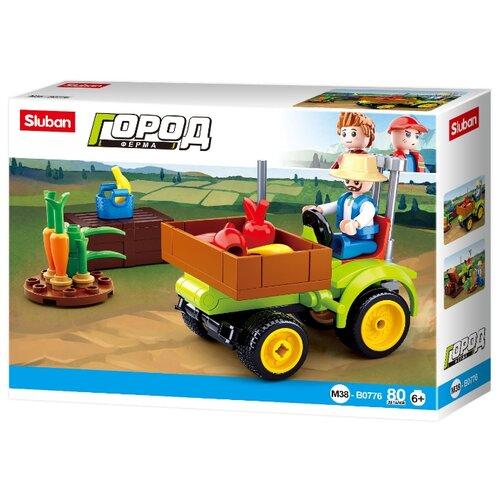 Конструктор SLUBAN Город M38-B0776 Фермерский трактор sluban город m38 b0781c поливочная машина
