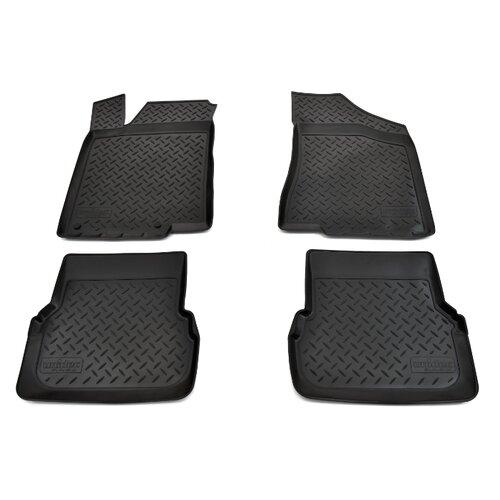 Комплект ковриков NorPlast NPL-Po-95-24 4 шт. черный