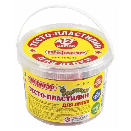 Купить Масса для лепки Пифагор 12 цветов 360г (104546), Пластилин и масса для лепки