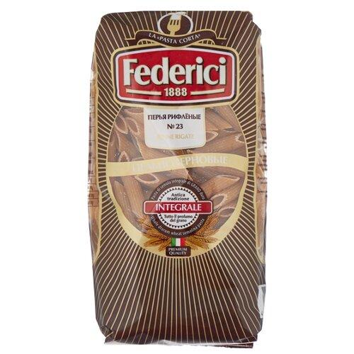 Фото - Federici Макароны Перья рифленые № 23 цельнозерновые, 400 г макфа макароны перья