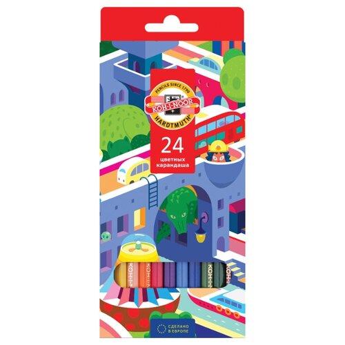 Купить KOH-I-NOOR Карандаши цветные Город мечты, 24 цвета (3554024038KS), Цветные карандаши