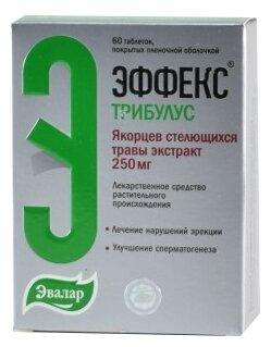 Эффекс Трибулус таб. п/о плен. 250мг №60 — купить по выгодной цене на Яндекс.Маркете