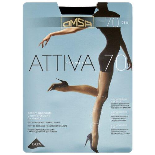 Колготки Omsa Attiva 70 den, размер 5-MAXI, nero (черный) колготки omsa attiva 20 den размер 2 s nero черный