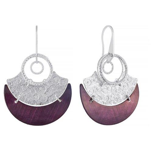 JV Серебряные серьги с эмалью BIS1032AS-SR-ENAM-WG
