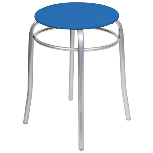 Табурет Nika Стайл (ТБС1), металл/искусственная кожа, цвет: голубой