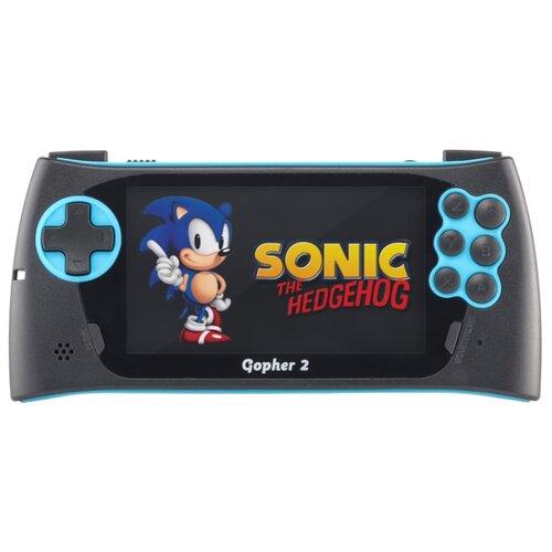 Игровая приставка SEGA Genesis Gopher 2 (500 игр) синий