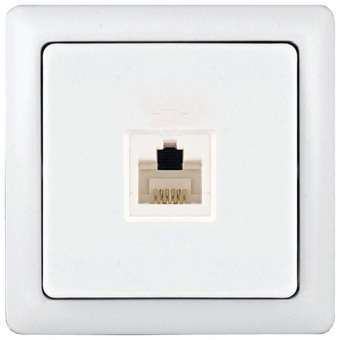Розетка для интернета / телефона Schneider Electric ХИТ RT-4A3-B,1А, белый — купить по выгодной цене на Яндекс.Маркете