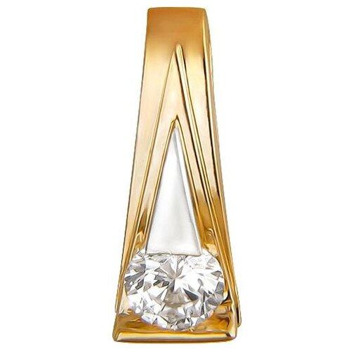 Эстет Подвеска с 1 фианитом из красного золота 01П1110960