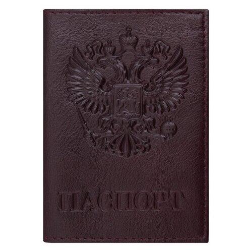 Обложка для паспорта BRAUBERG 237199, темно-бордовый