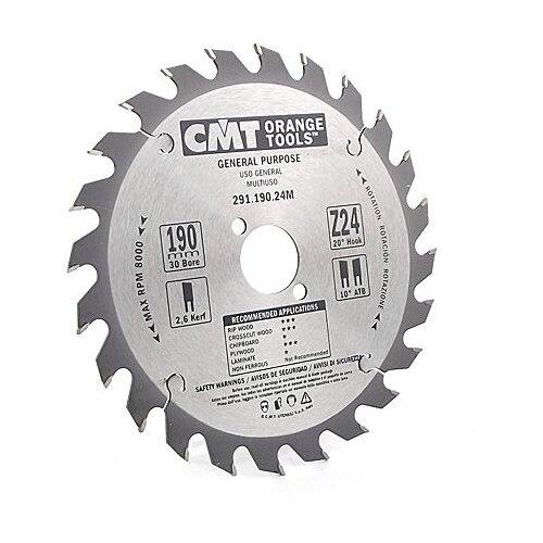 Пильный диск CMT 291.190.24M 190х30 мм пильный диск vmx 512472 190х30 мм