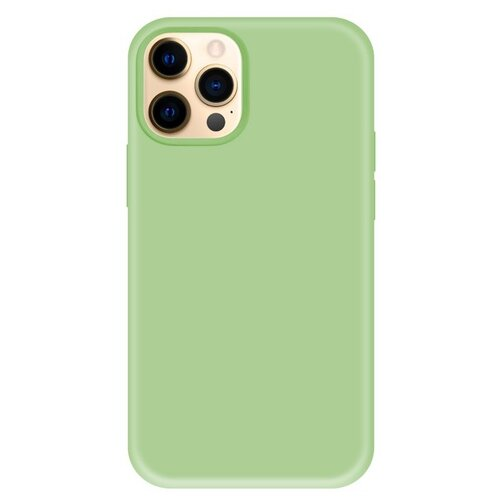 Krutoff / Чехол-накладка Krutoff Silicone Case для iPhone 12 Pro Max (Айфон 12 Про Макс) (mint)