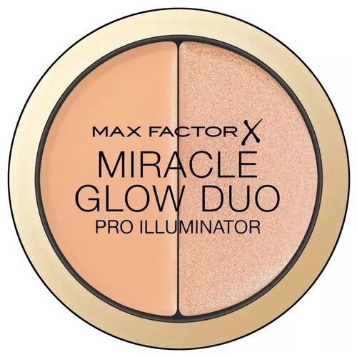 Max Factor Хайлайтер Miracle Glow Duo 20, medium хайлайтер для лица miracle glow duo 10 light