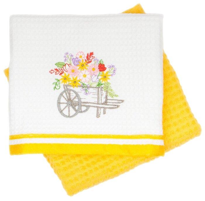 Arya Набор полотенец Provense 2B Тележка кухонное 40х60 см белый, желтый