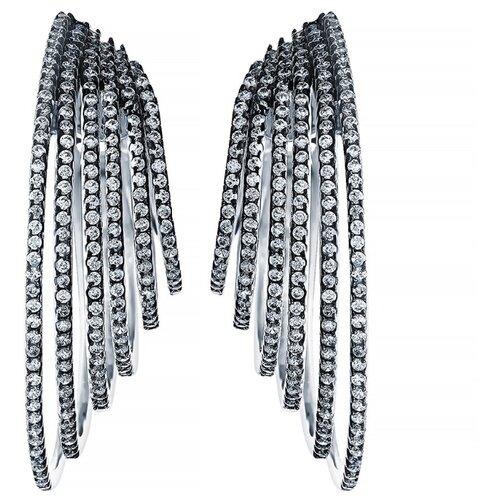 JV Серебряные серьги с кубическим цирконием DM2682-1E-SR-003-WG